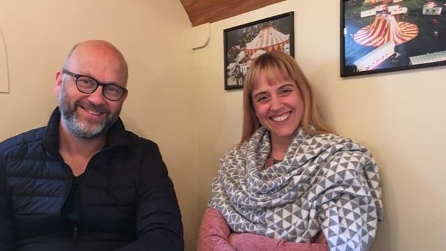 Das Kreativ-Team Christian Vetsch und Sabine Schindler.