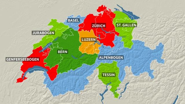 Eine Schweiz mit 9 Kantonen?