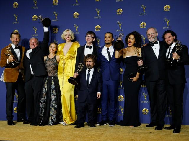Der Cast von «Game of Thrones» mit ihren Emmys