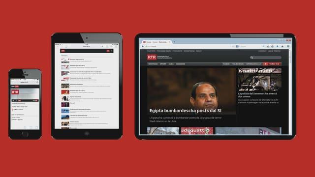 Purschida da rtr.ch sin iphone, ipad ed internet.