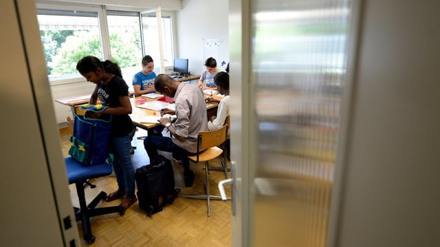 Asylsuchende im Schulunterricht