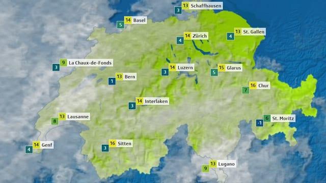 Ein Screenshot der Schweiz.