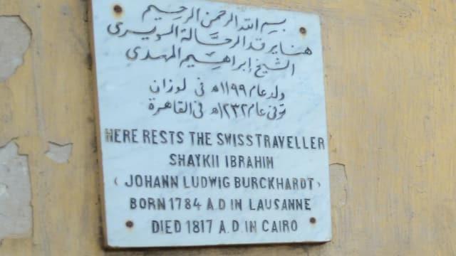 Totentafel in arabisch und englisch