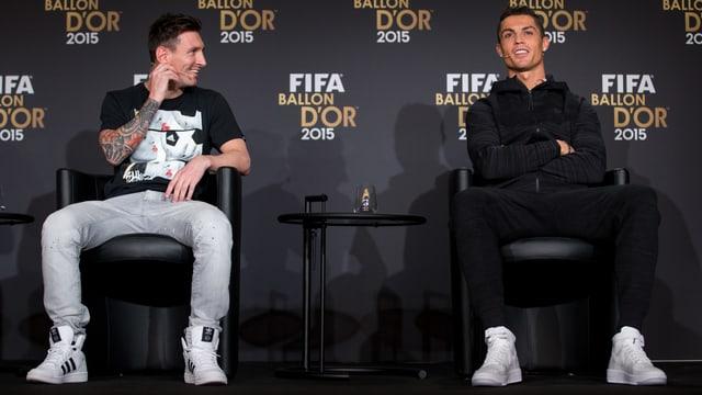 Lionel Messi und Cristiano Ronaldo an der «Ballon d'Or»-Gala.