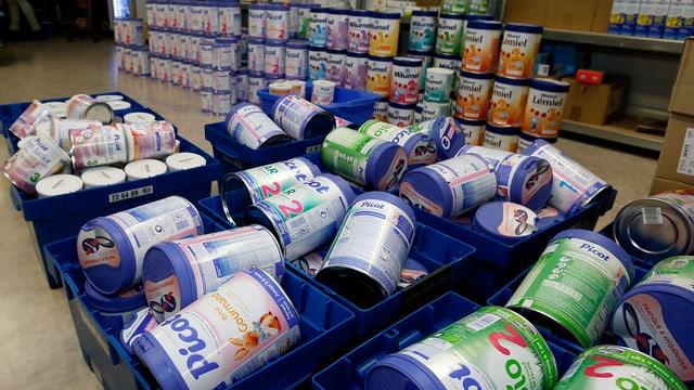 Babymilchpulver der Firma Lactalis