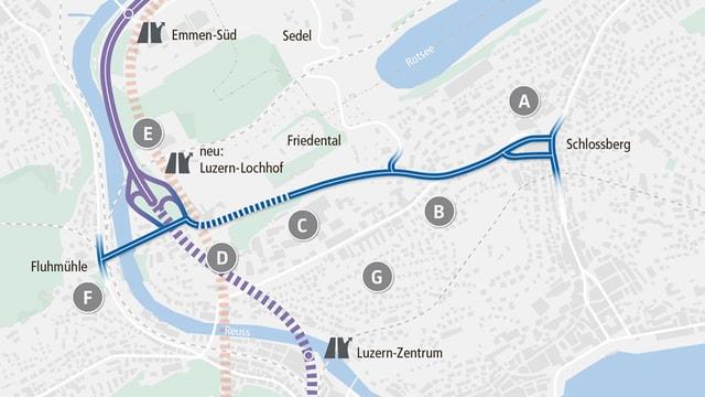 Eine Visualisierung der geplanten Verkehrsentlastung.