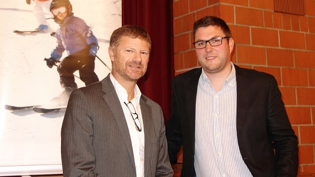 Markus Schröcksnadel (sanester) e Christian Prinz da las Pendicularas Savognin SA.
