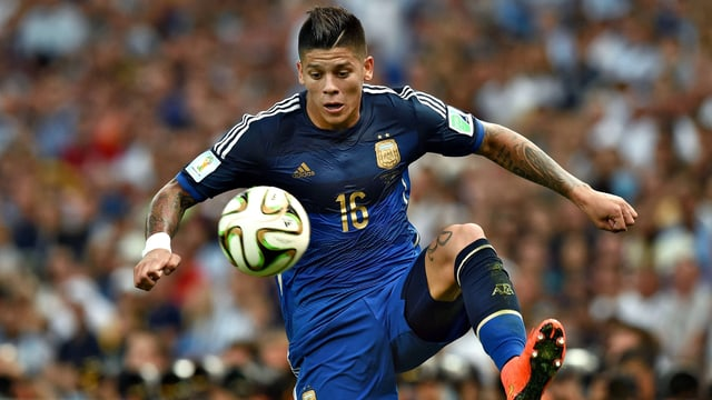 Marcos Rojo in Aktion.