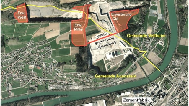 Karte mit eingezeichneten Erweiterungen.