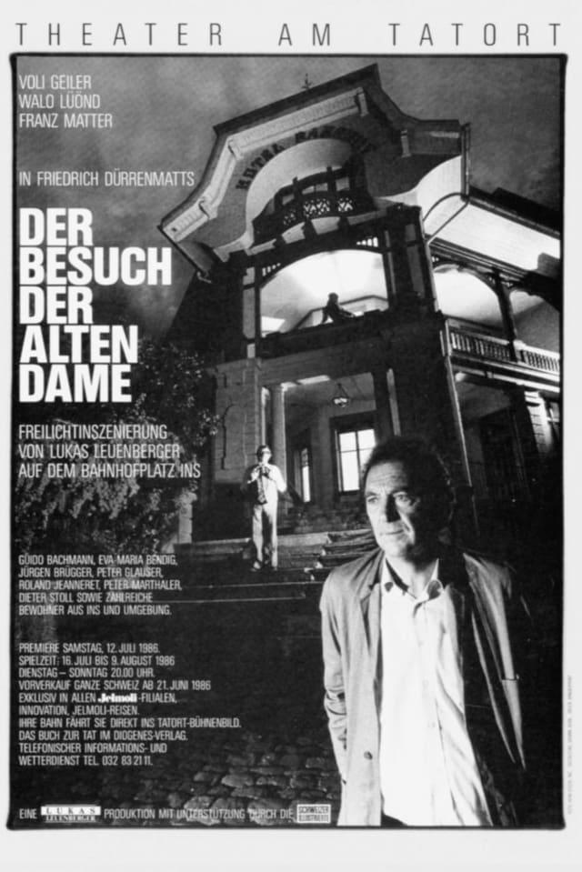 """Plakat Theaterstück """"Der Besuch der alten Dame"""" in Ins"""