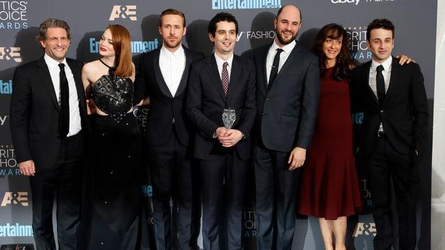 Crew von «La La Land» bei den Critics Choice Awards.