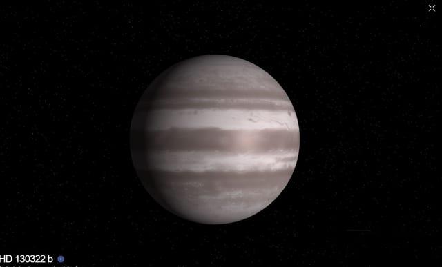 Visualisierung des Exoplaneten der NASA.