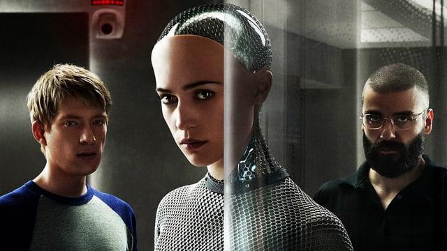 1 Roboter, zwei Menschen.