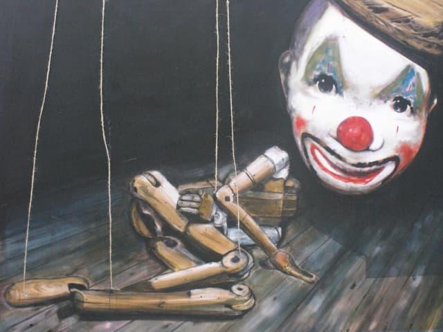 Marionette am Boden