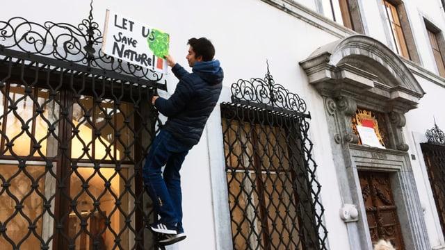 Am 18. Januar 2019 hat der Klimastreik das Solothurner Rathaus erreicht.