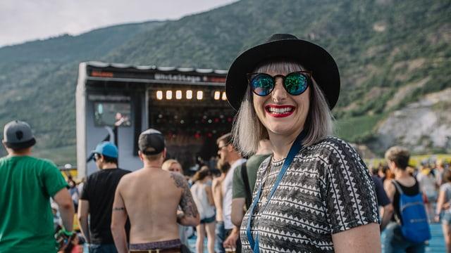 Tina Nägeli am Open Air Gampel.