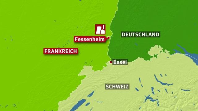 Karte Fessenheim.