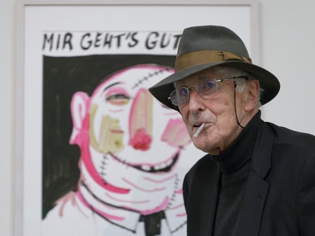 Tomi Ungerer: Der 84-jährige Künstler kam zur Vernissage nach Zürich.