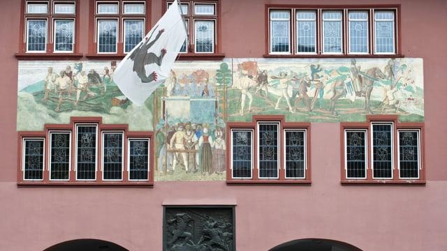 Sicht auf das Rathaus Appenzell.