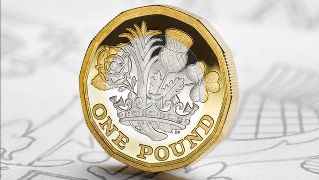 Aufnahme der neuen 1-Pfund-Münze