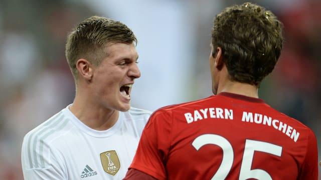 Reals Toni Kroos und Bayerns Thomas Müller.