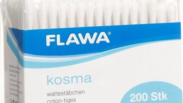 Flawa-Wattestäbchen in der Box