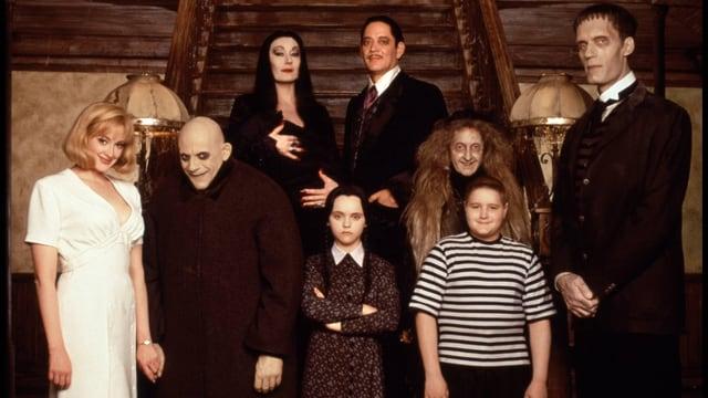 Eine Familie aus schrägen Typen.
