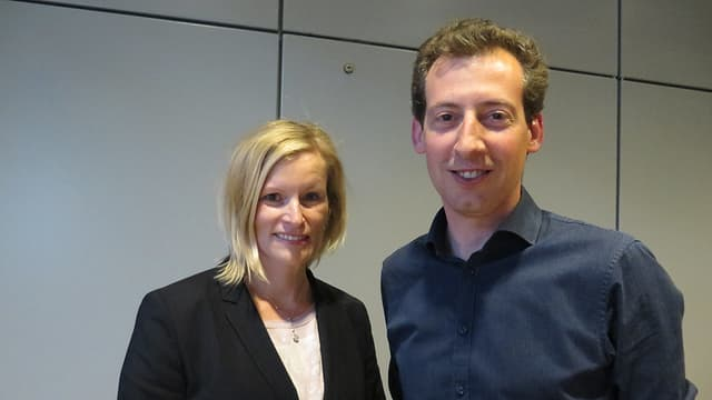 Yvonne Beutler und Nicolas Galladé strahlen