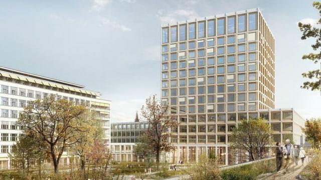 Der geplante neue Spitalturm.