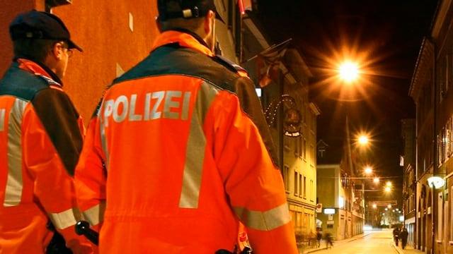 2 polizists en il Welschdörfli.