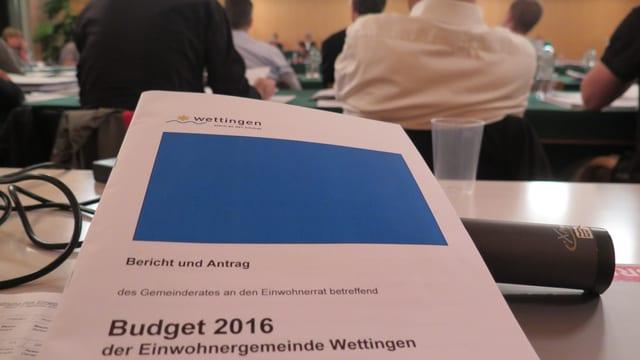 In der Einwohnerratssitzung liegt die Budget-Vorlage auf dem Tisch.