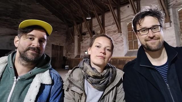 Die drei Macher des Theaters. Drei junge Menschen.