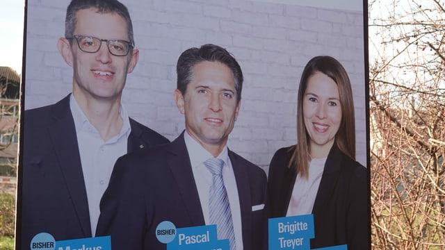 Wahlplakat der FDP Arlesheim