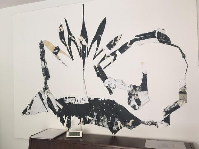 Ein Bild an der Wand.