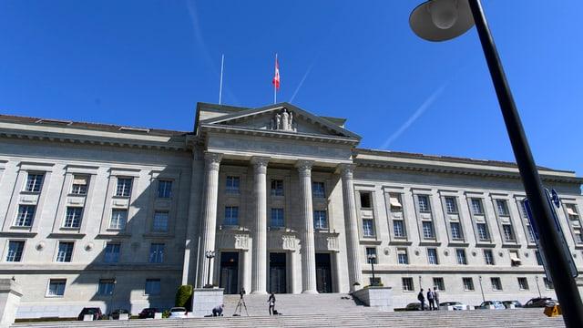 Das Bundesgerichtsgebäude in Lausanne von aussen.