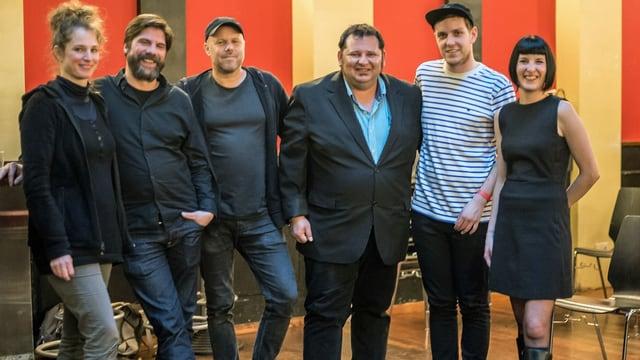 Zwei Musikerinnen und vier Musiker bilden den Vorstad der Schaffhauser Band-Union.