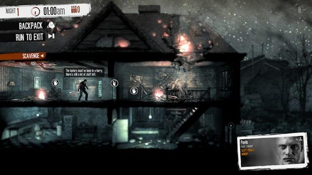 Spielszene aus «This War of Mine»
