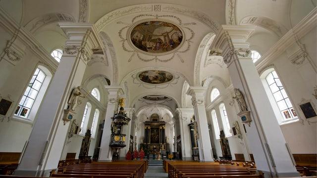 Kirche von Willisau innen