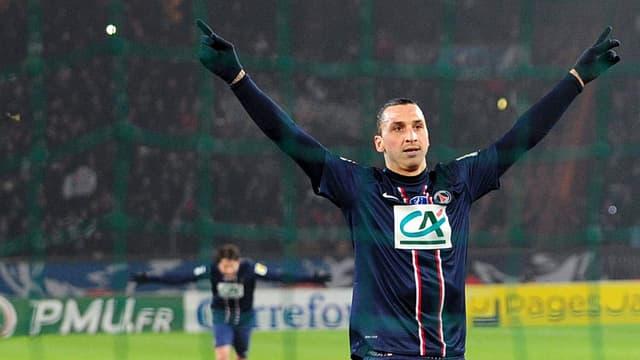 Zlatan Ibrahimovic in Jubelpose.