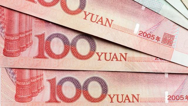 Chinesische Banknoten.