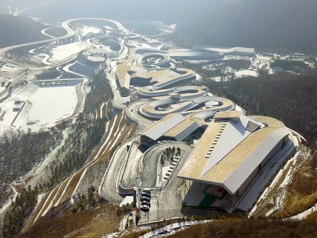 Die Olympiabahn von Peking 2022.