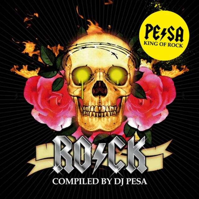 Totenkopf mit Rosen, CD-Cover von DJ Pesas Rock Mix-CD