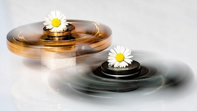 Fidget Spinners in Bewegung