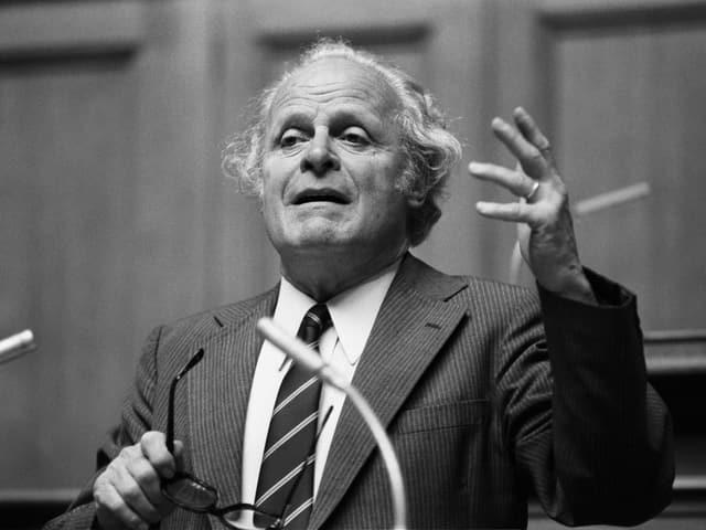 Otto Fischer im Nationalrat