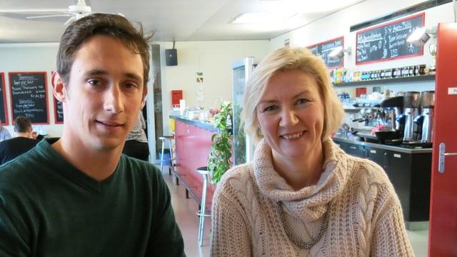 Rainer Leemann und Karen Umbach von der FDP haben zum Podium 41 unterschiedliche Ansichten.
