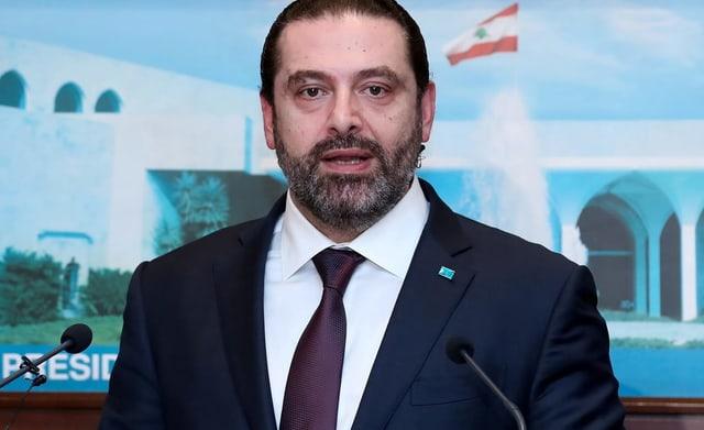 Hariri bei Ansprache
