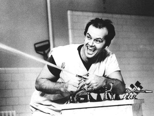 Jack Nicholson im Film «Einer flog über das Kuckucksnest».