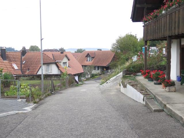Alte Häuser und Strässchen.