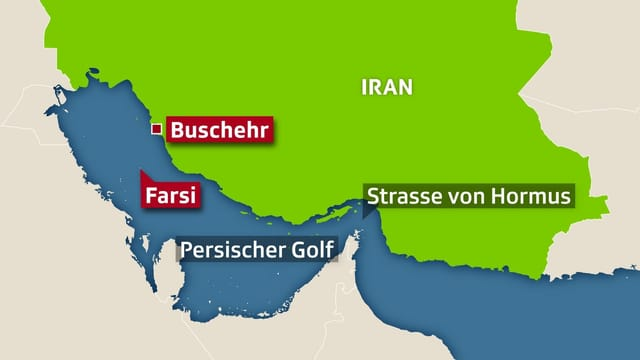 Karte Persischer Golf