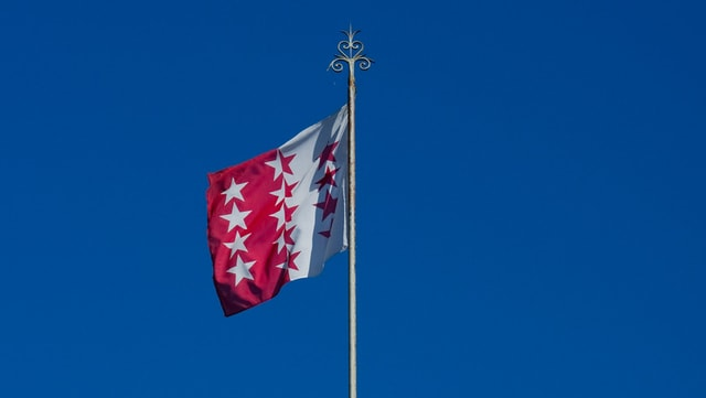 Walliser Flagge.